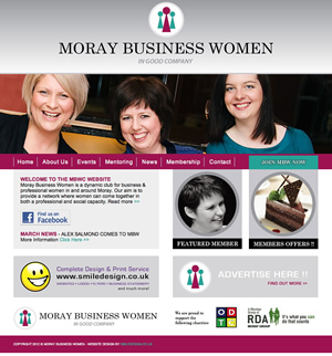 website design moray business women
